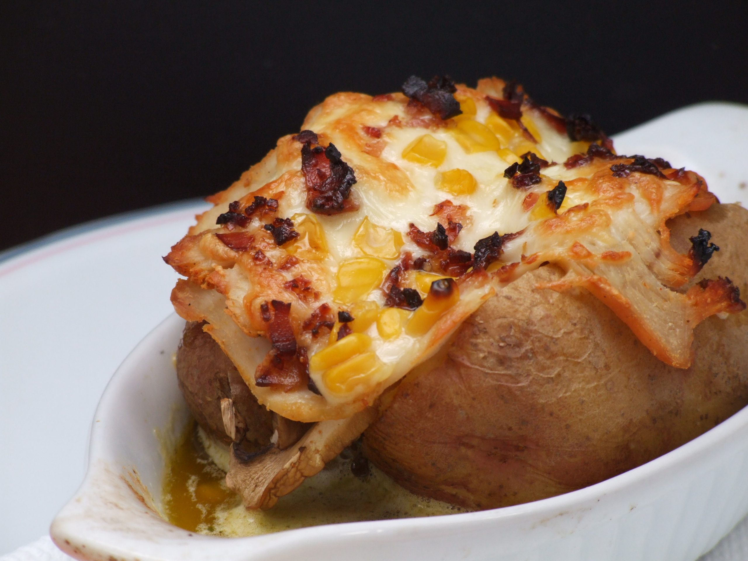 Batata Queijo e Bacon