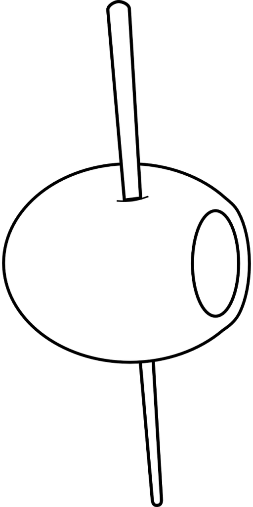 olive, toothpick, food